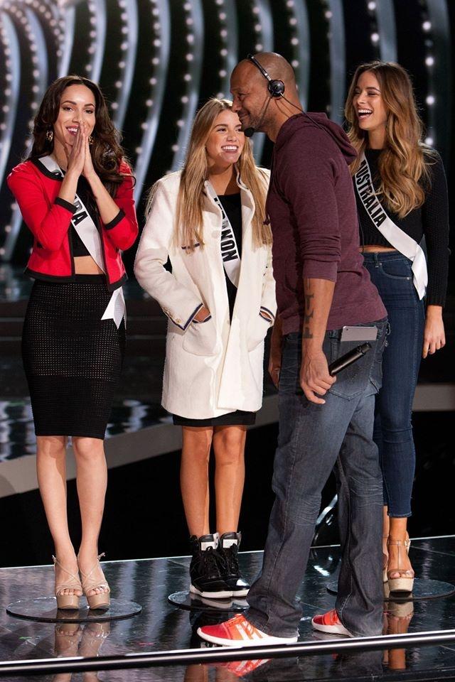 Nguoi dep Miss Universe rang ro tren san khau tong duyet hinh anh 15