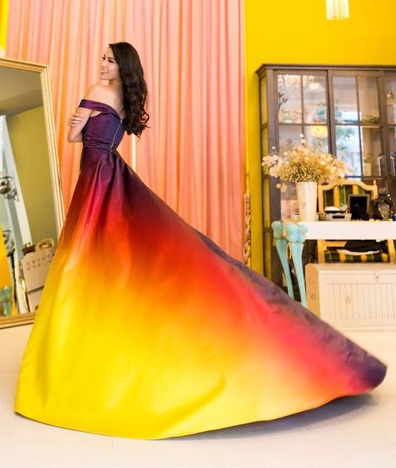 Vay da hoi cua Lan Khue o Miss World dep nhat 2015 hinh anh 1