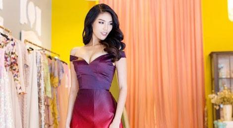 Vay da hoi cua Lan Khue o Miss World dep nhat 2015 hinh anh
