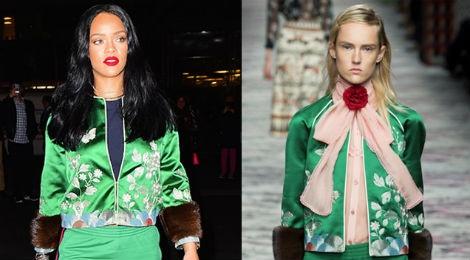 Rihanna mac dep nhat tuan voi cay hang hieu Gucci hinh anh