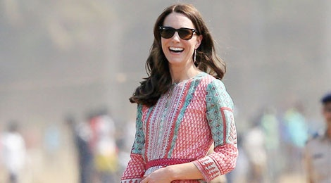 Tu do xinh dep cua Kate Middleton trong chuyen tham An Do hinh anh