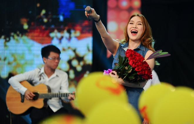 My Tam tro tai hat cai luong truoc fan Ha Noi hinh anh 6