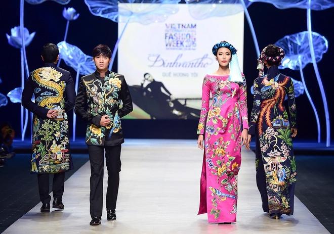 Vo chong Luong The Thanh catwalk doi o tuan le thoi trang hinh anh 5