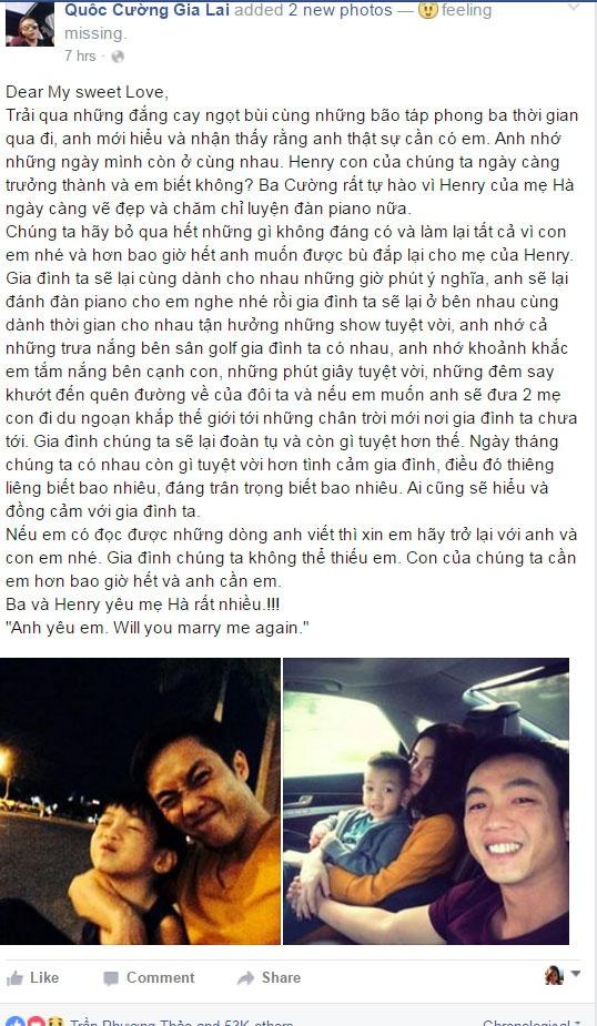 Cuong Do La cau hon Ho Ngoc Ha tren Facebook la gia mao hinh anh 1