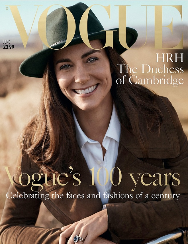 Cong nuong Kate Middleton lan dau len bia Vogue hinh anh 1