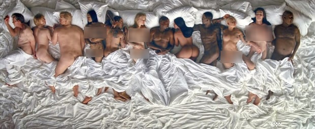 Taylor Swift nude trong MV moi cua Kanye West? hinh anh 1