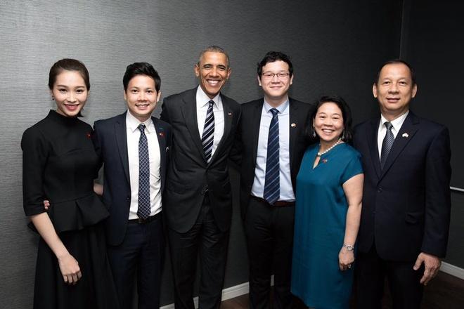 Thu Thao va ban trai khoe anh gap Tong thong Obama hinh anh 2