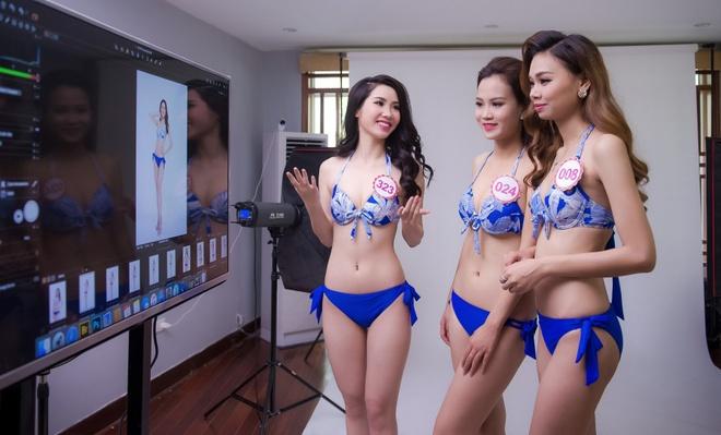 Hau truong chup bikini cua top 32 Hoa hau Viet Nam mien Bac hinh anh 1