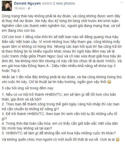 Hoa hau Ban sac Viet noi ve nghi van biet truoc cau hoi hinh anh 2