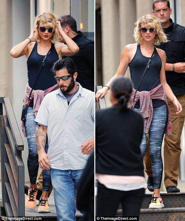 Taylor Swift xuat hien tuoi tan sau chia tay ban trai hinh anh 5