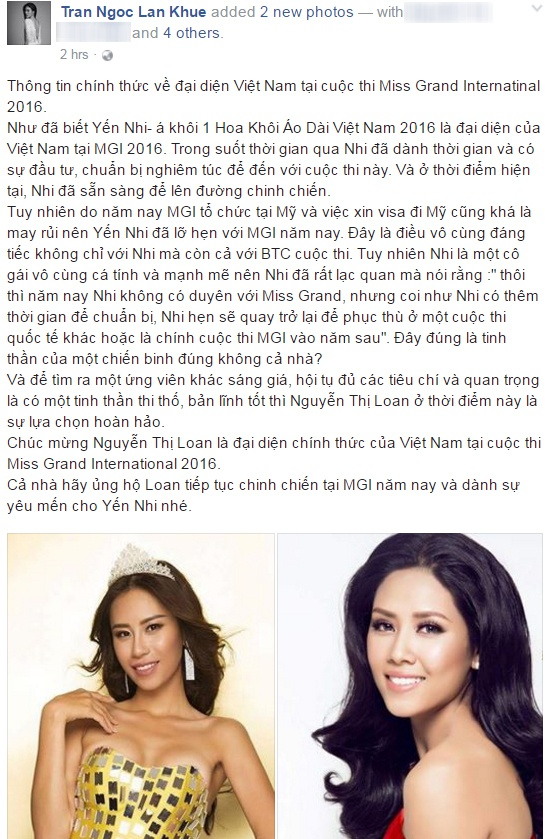 Nguyen Loan bat ngo du thi Miss Grand International 2016 hinh anh 1