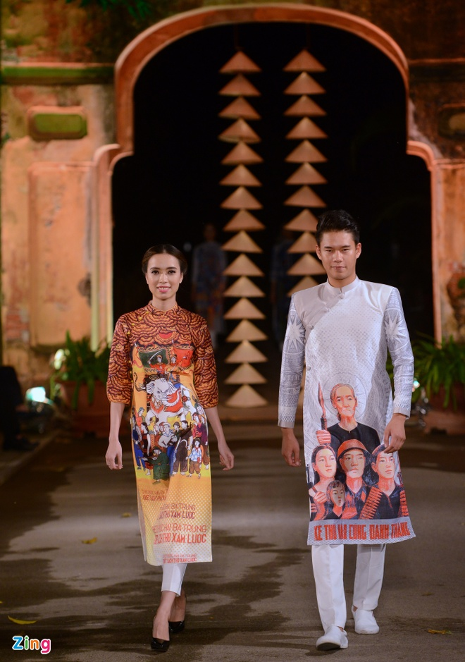Nguoi dep HHVN trinh dien ao dai o Hoang thanh Thang Long hinh anh 11