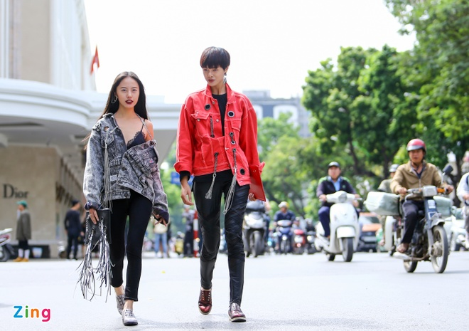 Street style thu dong doi lap cua gioi tre Viet hinh anh 2