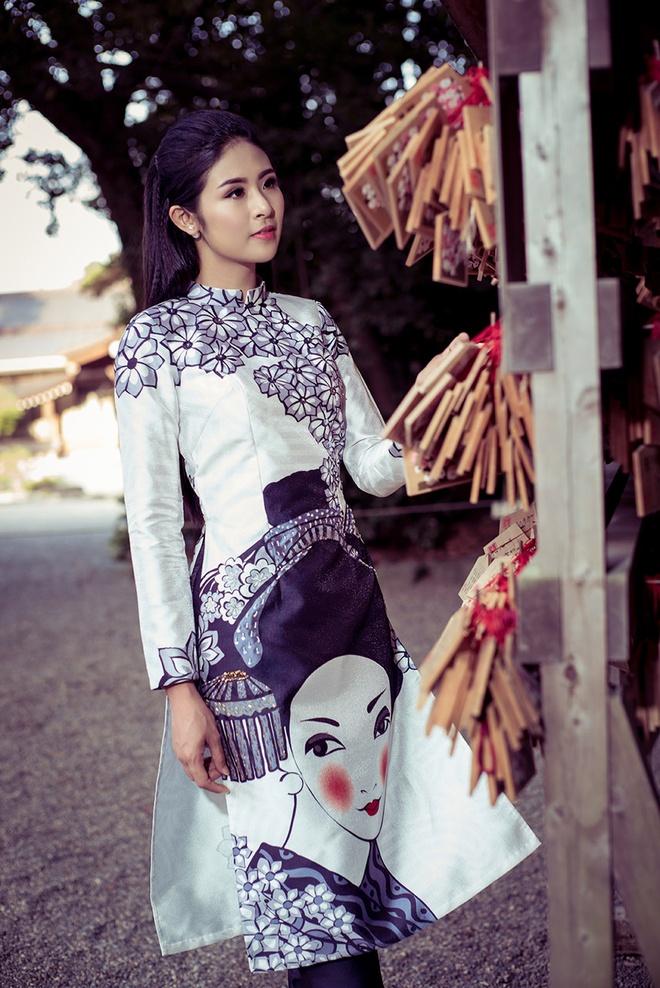 Hoa hau Ngoc Han chup anh ao dai tai Nhat Ban hinh anh 8