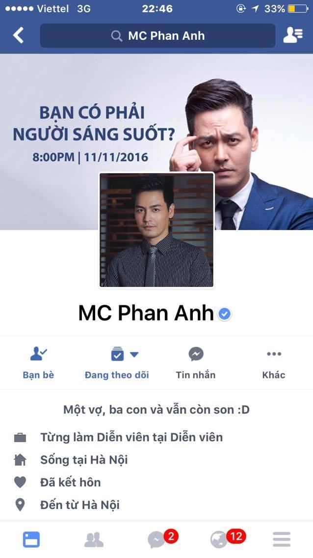 Trang Facebook cua MC Phan Anh tam thoi khoa hinh anh 2