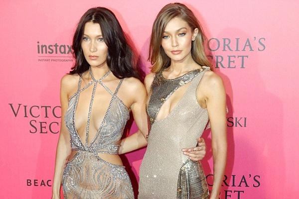 Bella Hadid mac phan cam o tiec Victoria's Secret 2016 hinh anh