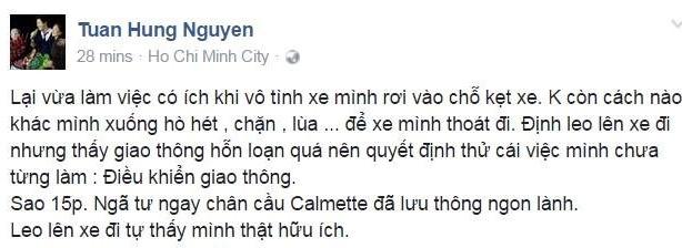 Tuan Hung khoe giai cuu tac duong tren pho Sai Gon hinh anh 1