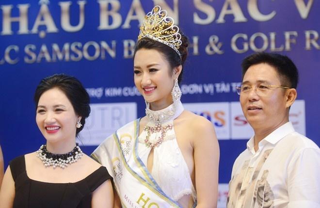 Hoa hau Ban sac Viet Thu Ngan bat ngo lay chong doanh nhan hinh anh 1