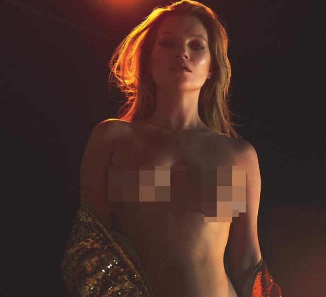 Sieu mau Kate Moss chup anh nude o tuoi 43 hinh anh 1
