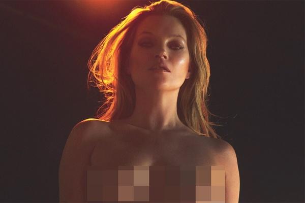 Sieu mau Kate Moss chup anh nude o tuoi 43 hinh anh