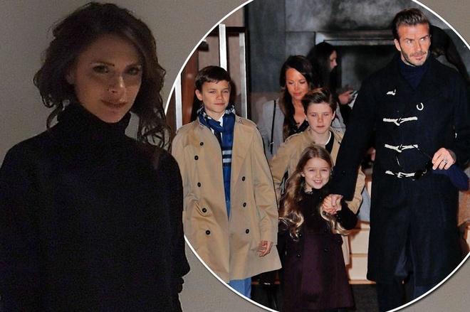 David Beckham va cac con den New York ung ho Victoria hinh anh