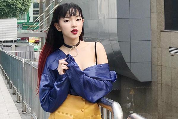 Hot girl Chau Bui tu van 4 set do cho ngay Valentine hinh anh
