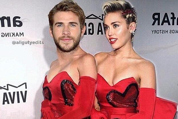 Miley Cyrus dang anh ban trai mac vay ky niem Valentine hinh anh