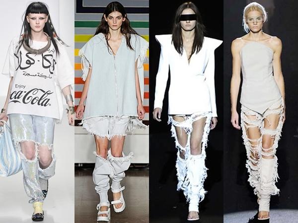Những mốt quần jeans hở vòng ba, rách tả tơi gây bão thời trang ...