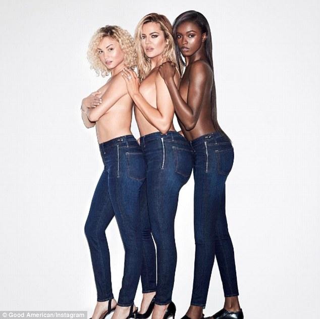 Em gai Kim Kardashian goi cam quang cao quan jeans hinh anh 1