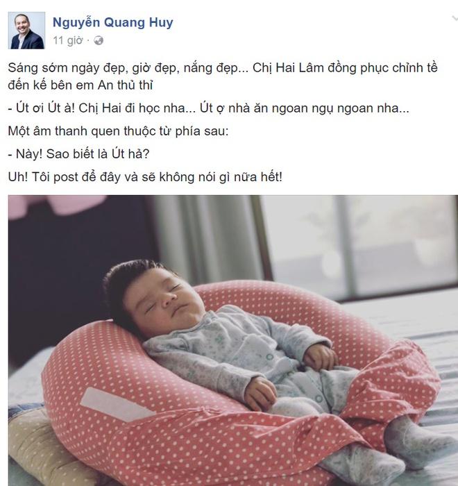 Ong bau Quang Huy lan dau khoe anh ro mat con gai thu hai hinh anh 1