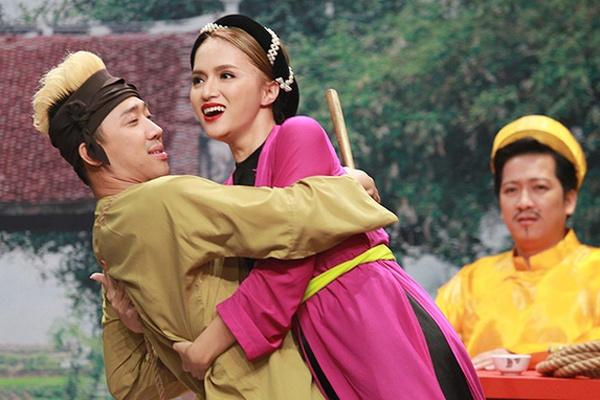 Nhung man dien lo cua Huong Giang Idol tren truyen hinh hinh anh