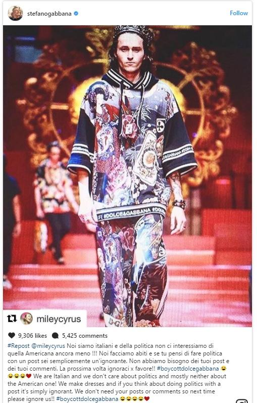 Dolce & Gabbana gay am i vi bi nguoi mau bieu tinh ngay trong show hinh anh 2