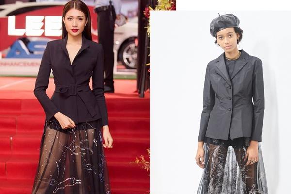 A hau Le Hang mac vay nhai cua Dior? hinh anh