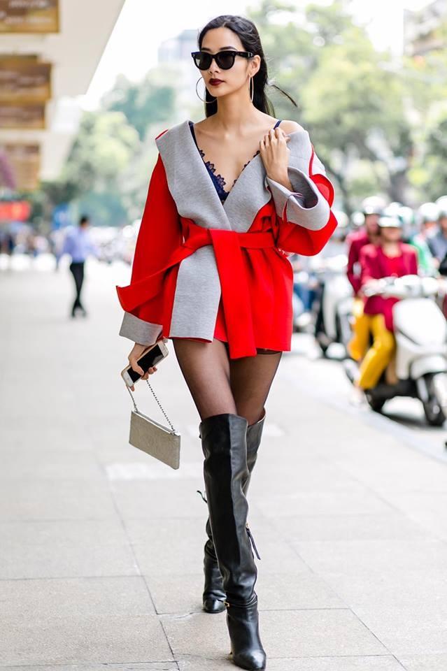 Hoang Thuy 'lot xac' tu Next Top Model den Hoa hau Hoan vu Viet Nam hinh anh 8