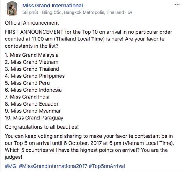Miss Grand International 2017 anh 1