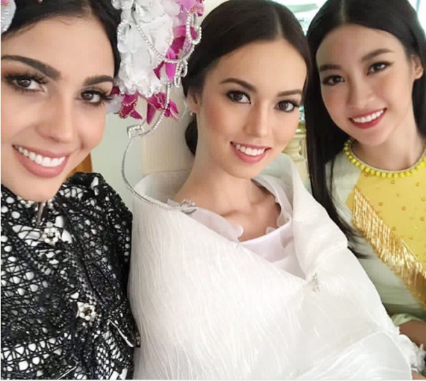 Hoa hau My Linh mac ao tu than, doi non quai thao o Miss World 2017 hinh anh 3