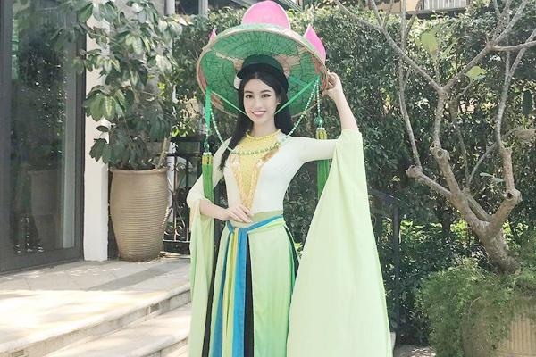 Hoa hau My Linh mac ao tu than, doi non quai thao o Miss World 2017 hinh anh