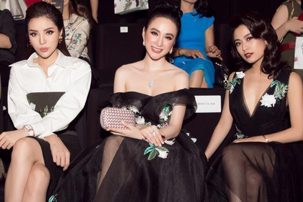 Angela Phuong Trinh, Ky Duyen ngoi hang ghe dau show thoi trang hinh anh