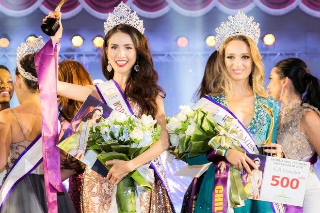Phan Thi Mo dang quang Hoa hau Dai su Du lich The gioi 2018 hinh anh
