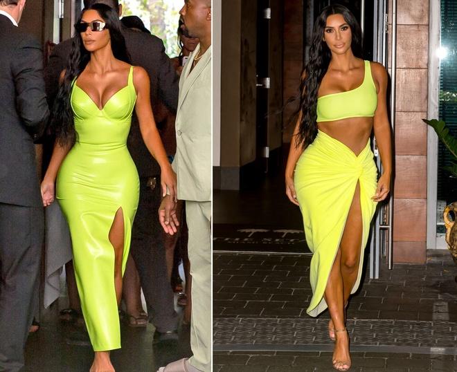 Chi em Kylie Jenner dua nhau lang xe vay ao mau neon hinh anh 4