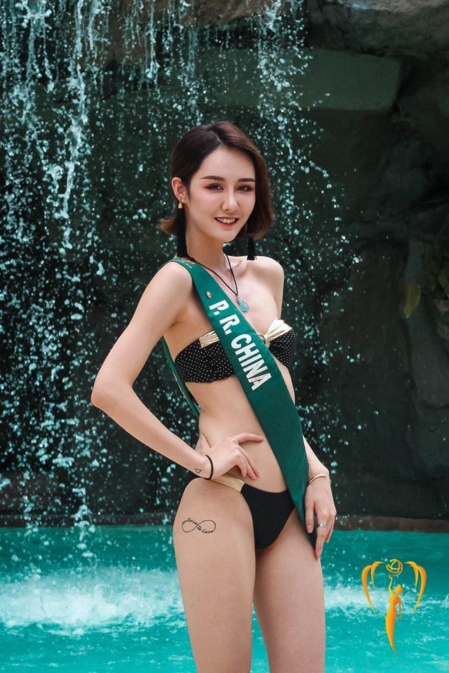 Thi sinh Hoa hau Trai dat lo hinh the kem thon gon khi mac ao tam hinh anh 11