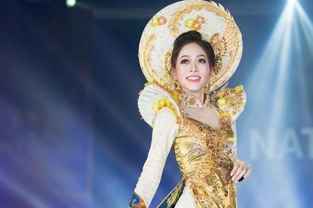 Ao dai cua Phuong Nga vao top 10 trang phuc truyen thong Miss Grand hinh anh
