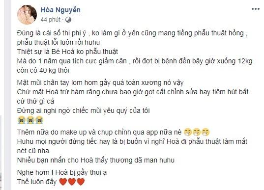 Hoa Minzy phan ung voi tin don phau thuat tham my hinh anh 3