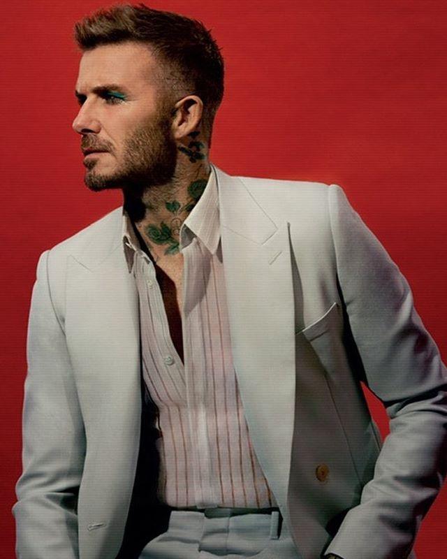 David Beckham gay xon xao voi anh trang diem phan mat mau xanh hinh anh 3