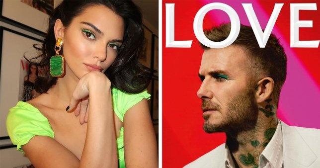 David Beckham gay xon xao voi anh trang diem phan mat mau xanh hinh anh 1