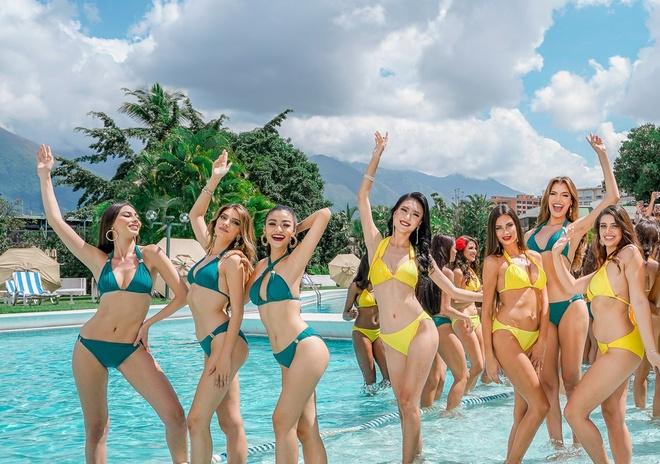 Bị chê đùi to, Kiều Loan vẫn tự tin diễn áo tắm ở Hoa hậu Hòa bình
