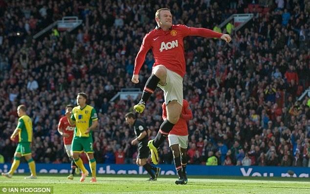 Rooney xuat sac nhat tran M.U ha Norwich hinh anh