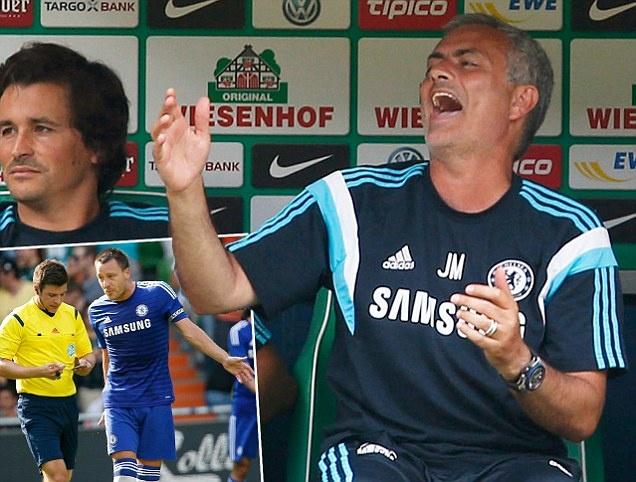 HLV Mourinho dien tiet vi trong tai khien Chelsea thua tran hinh anh