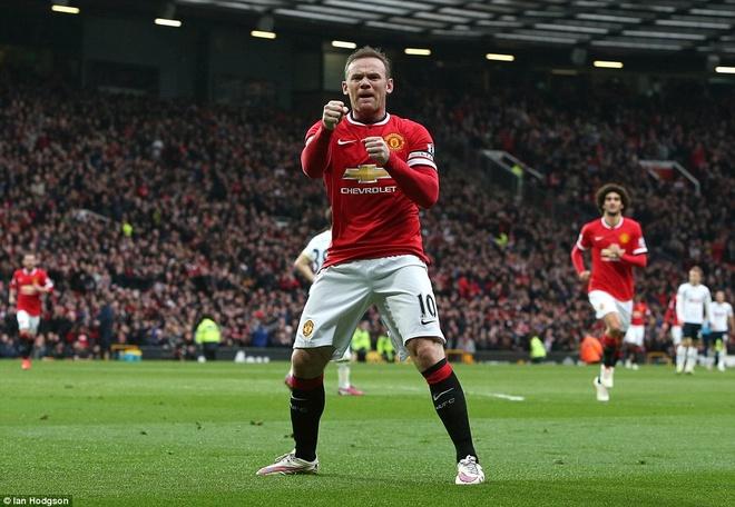 Anh vui Rooney an mung ban thang ha knock-out Tottenham hinh anh 1 a
