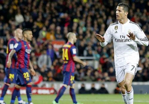 Ronaldo co the bi phat khi an mung ban thang vao luoi Barca hinh anh
